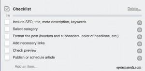 Editorial-Checklist