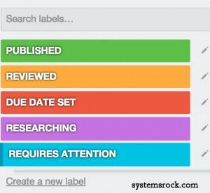 Editorial-Labels
