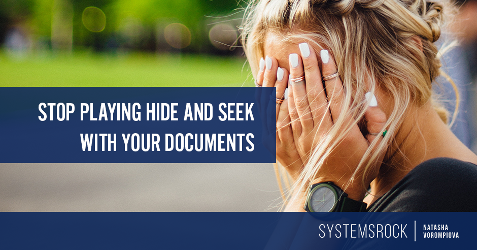 Stop Playing Hide-And-Seek with Your Documents