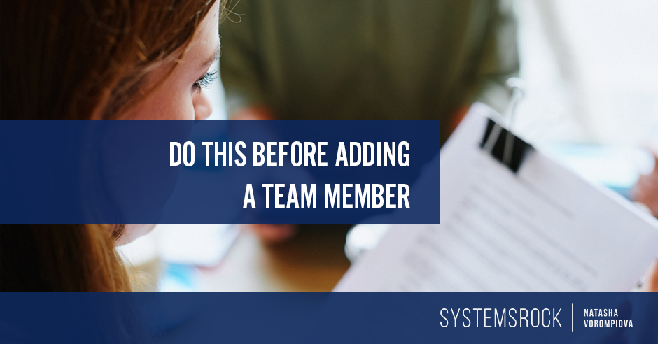 Do This Before Adding a Team Member
