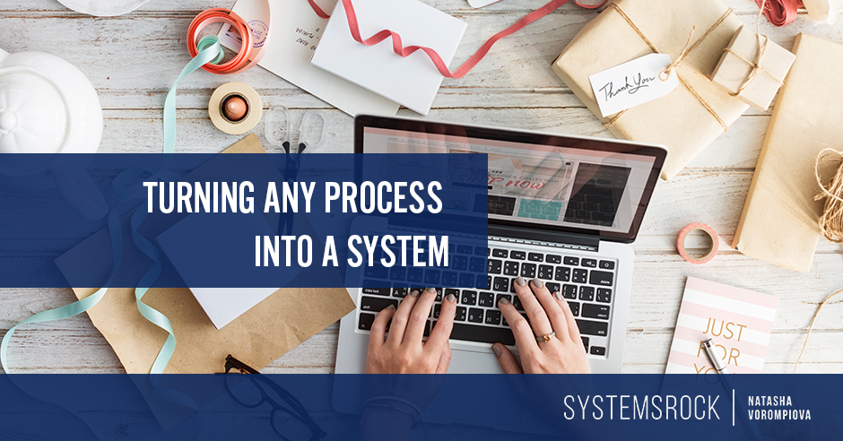 How to turn any process into a system (It's easier than you think!)