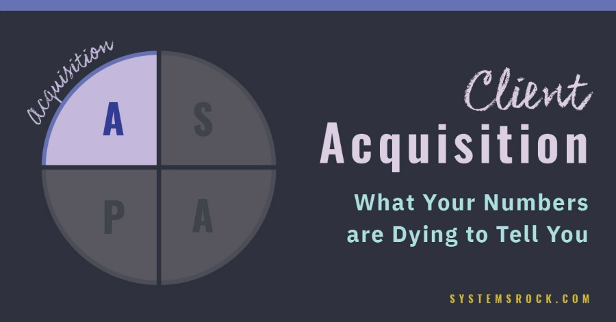Client Acquisition – what your numbers are dying to tell you