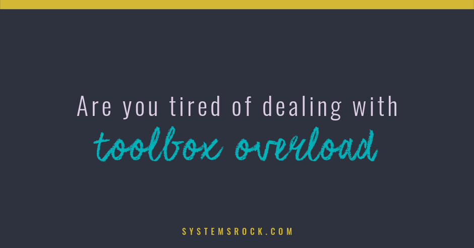 Are You Tired of Dealing With Toolbox Overload?