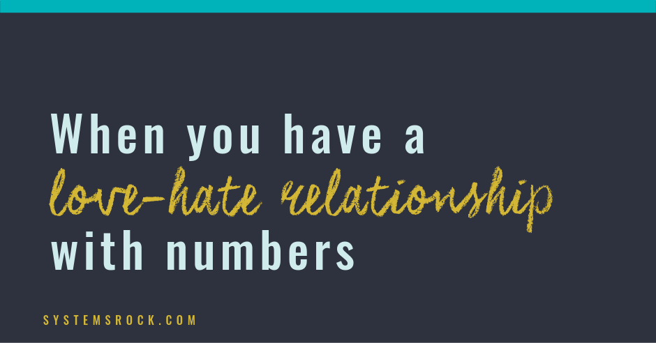 love-hate relationship with numbers